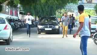 Balakrishna arrives at Bhramaramba theatre to watch Paisa ..