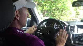 Driving in the gates at the The Masters in Augusta