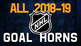 All NHL Goal Horns (2018-19)