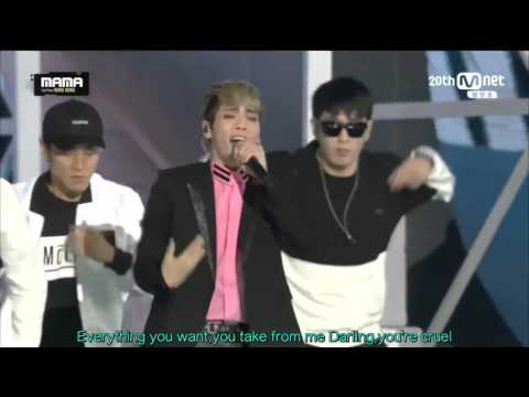 [ENG SUB] 151202 SHINee ‎샤이니  Intro+SAVIOR  2015 MAMA