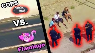 GIANT FLAMINGO VS. L.A.P.D. (Police Chase Inflatable Flamingo Raft Down L.A. River) | JOOGSQUAD PPJT