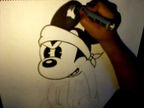 Drawings Of Gangster Mickey Mouse