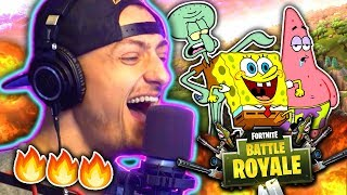 HILARIOUS SPONGEBOB VOICE IMPRESSIONS ON FORTNITE!