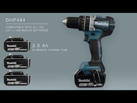 Makita DLX2180TJ 18v Brushless Twin Pack DHP484 and DTD153 2x 5.0Ah Batteries