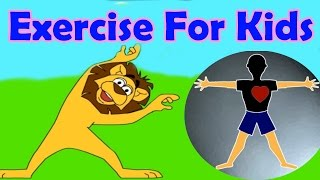 Exercises for different parts of the body, Jumping, Stretching, Aerobics, Funny Game for Kids