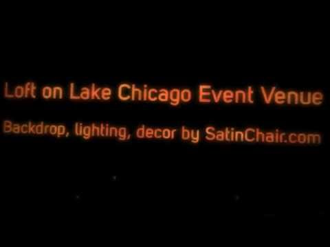 Loft on Lake Chicago Unique Wedding and Event Venue - Decor by Satin Chair Covers Rental
