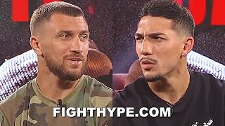 """LOMACHENKO & TEOFIMO LOPEZ TRADE FIRST IMPRESSIONS OF EACH OTHER & """"CHESS MATCH"""" PREDICTIONS"""
