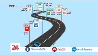Khốc liệt cuộc đua giành thị trường của các ứng dụng gọi xe công nghệ| VTV24