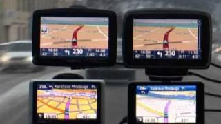GPS navigacijų TomTom ir Garmin video palyginimas. Kaunas.