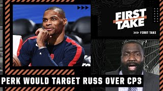 The Lakers should target Russell Westbrook over Chris Paul - Kendrick Perkins | First Take