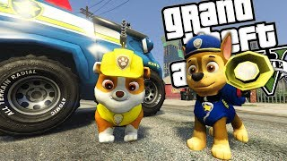 PAW PATROL MOD w/ RUBBLE & CHASE (GTA 5 PC Mods Gameplay)