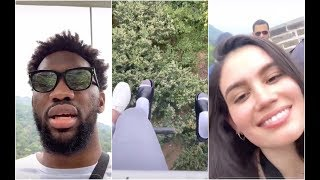 Joel Embiid is scared for his life as he takes his girlfriend to see the Great Wall of China