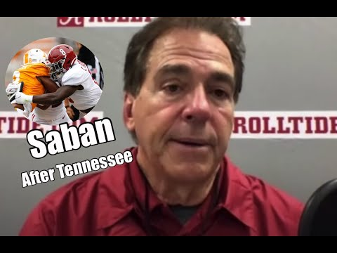 Nick Saban Press Conference after Tennessee, talks Jaylen Waddle season injury