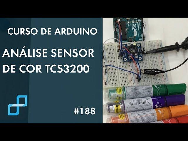 ANÁLISE SENSOR DE COR TCS3200 | Curso de Arduino #188