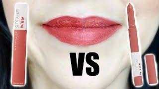 Maybelline SuperStay Matte Ink Liquid Lipstick VS Maybelline SuperStay Ink Crayon  || Best Drugstore