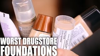 WORST DRUGSTORE FOUNDATIONS