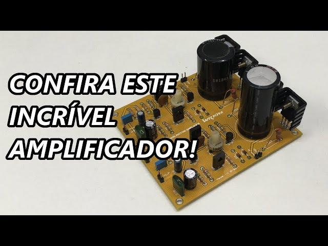 MONTE UM AMPLIFICADOR DE ÁUDIO ESTÉREO PROFISSIONAL!