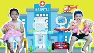 Kids go to School Learn Colors Cups   Kids Pretend play Doctor - Zohar Min