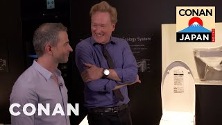 Conan & Jordan Visit The Toto Toilet Showroom
