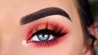 Jeffree Star Jawbreaker Eyeshadow Palette | Red & Orange Eye Makeup Tutorial