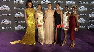 """Sydelle Noel, Dora Milaje """"Black Panther"""" World Premiere Purple Carpet"""