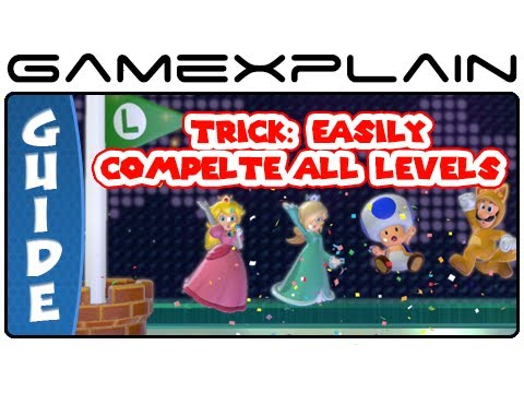 Super Mario 3D World Trick: Easily Beat All Levels As All 5 Characters - Guide & Walkthrough (Wii U) - Smashpipe Games Video