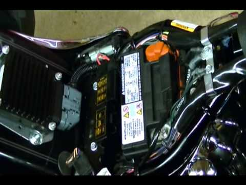 motorcycle repair how to replace a battery on a harley. Black Bedroom Furniture Sets. Home Design Ideas