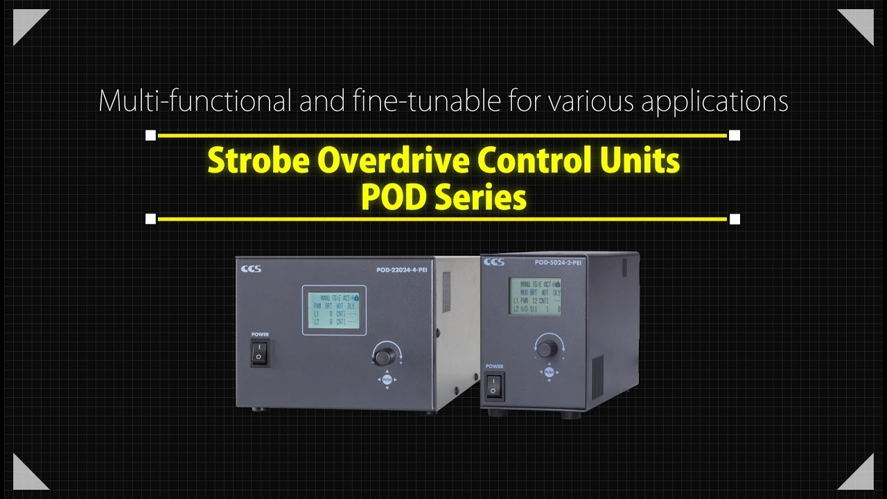 Strobe Overdrive Control Units POD Series