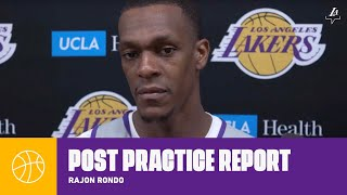 Rajon Rondo discusses how he'll impact the team upon his return | Lakers Practice