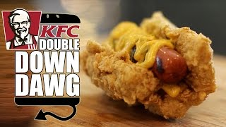 KFC Double Down Dog Recipe  |  HellthyJunkFood