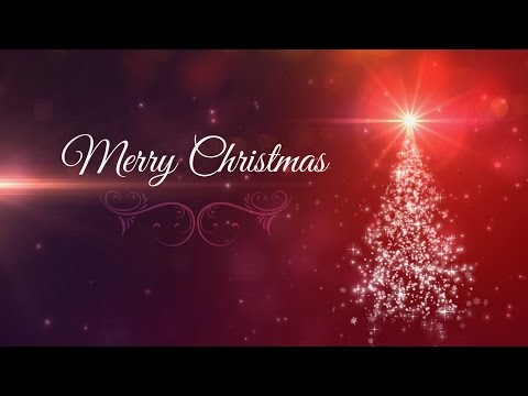 Merry Christmas - Animated Background Loop - Christmas Card