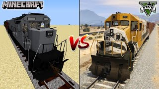 MINECRAFT TRAIN VS GTA 5 TRAIN - SPECIALLY FOR 1 MILLION SUBSCRIBERS