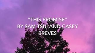 """""""This Promise"""" (Lyrics) - Sam Tsui and Casey Breves"""