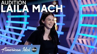 """Gabby Barrett, But Angrier! Laila Mach Auditions With Her Version Of """"I Hope"""" - American Idol 2021"""