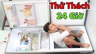 Thử Thách 24H Sống Trong Nhà Tù Tủ Lạnh Đầy Đủ Tiện Nghi | 24h Sống Trong Tủ Lạnh