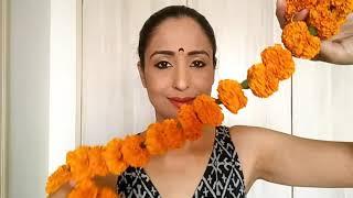 Celeb style DIWALI getup, DIY full Diwali getup using flowers as accessory