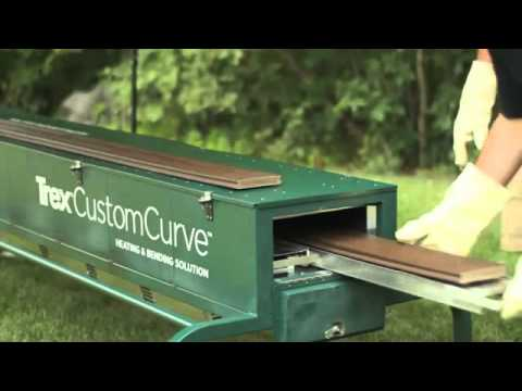 Trex Customcurve Deck Parts Bending Glenbrook U Youtube