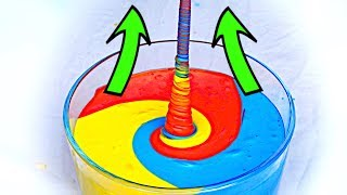 """How to make fluid """"climb"""" up! AMAZING SLIME EXPERIMENT!"""