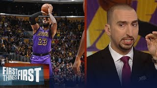 Nick Wright reacts to LeBron passing Wilt Chamberlain's scoring record | NBA | FIRST THINGS FIRST