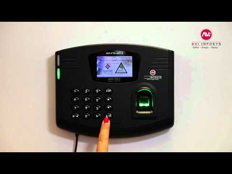 "Time Attendance Dubai UAE, Fingerprint System, Technical Demo for ""AVI-FTA-507-C"", Dubai UAE"
