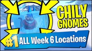 SEARCH CHILLY GNOMES *ALL LOCATIONS* (Fortnite Season 7 Week 6)
