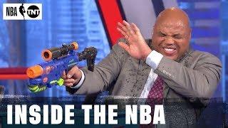 Super Soaker Battle Breaks Out in Studio J   NBA on TNT