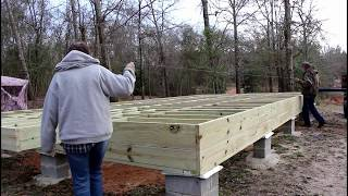 Installing Plywood SubFLOOR | Off Grid Cabin Build | Episode 3