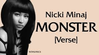 Nicki Minaj - MONSTER (Verse - Lyrics)