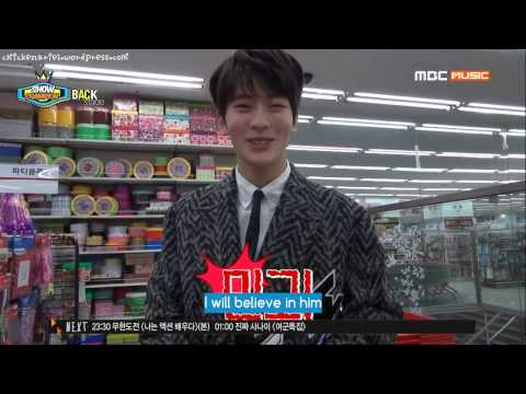 [Engsub] 150131 Show Champion backstage - SM Rookies Doyoung Jaehyun