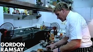 Chef Struggles to Prepare Dinner for Mr. Rice - Gordon Ramsay