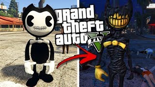BENDY AND THE INK MACHINE MOD w/ BENDY & EVIL BENDY (GTA 5 Mods Gameplay)