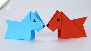 Origami DOG easy | DIY paper crafts FOR KIDS