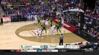 Kansas vs Baylor   2015-16 Big 12 Men's Basketball Highlights