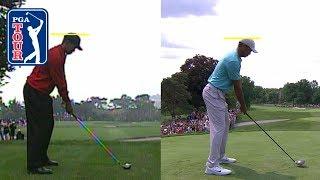 Tiger Woods' swing comparison 2000 vs. 2019